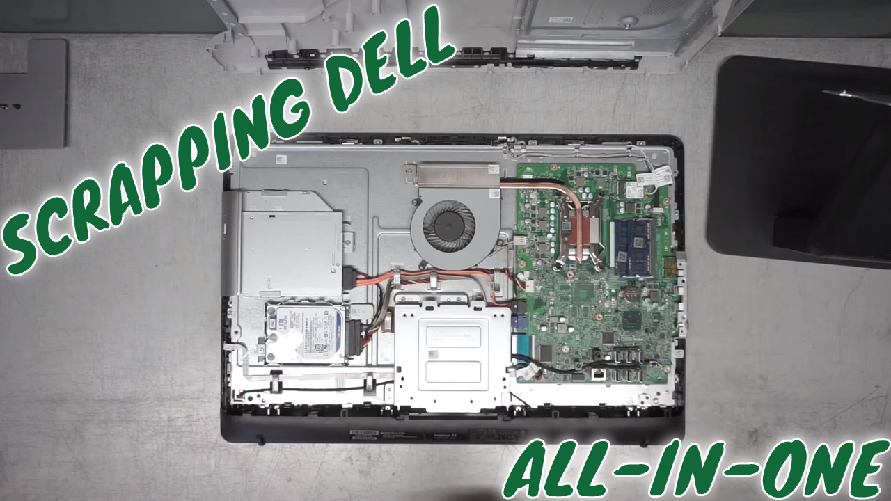 RECYCLING A DELL INSPIRON 24 5459 COMPUTER AT AN E WASTE CENTER | ELECTRONIC RECYCLING