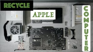 RECYCLE AN APPLE COMPUTER AT AN EWASTE CENTER: SCRAPPING APPLE MAC PRO A1289 ELECTRONIC RECYCLING