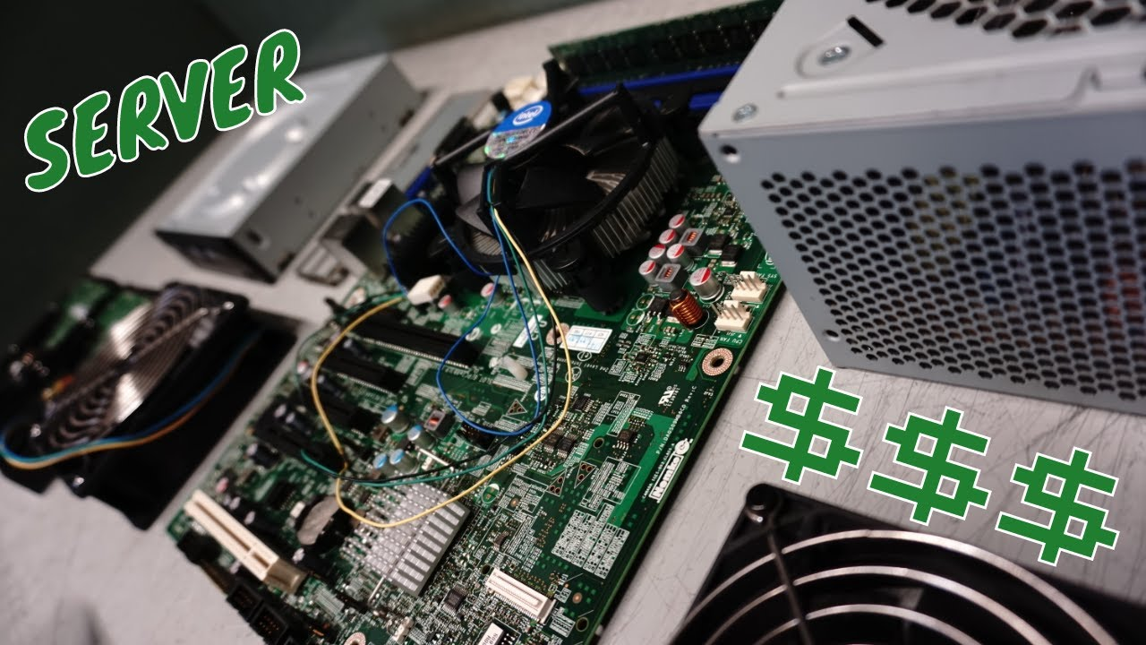 Scrapping A Server Computer For The Motherboard Power Supply Hard Drive & Wires At an Ewaste Center