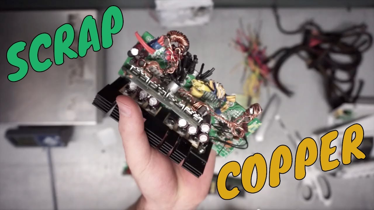 MAKE MONEY SCRAPPING A COMPUTER POWER SUPPLY: Scrap Copper, Aluminum and Wires